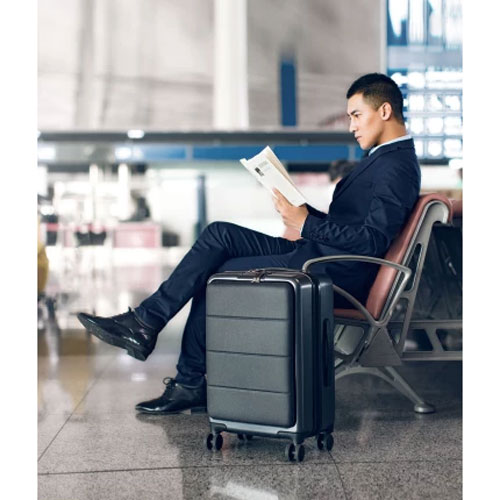 "90 GOFUN Passport Suitcase 20"" Gray"
