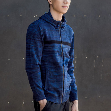 Mitown Hooded Jacket Blue XL