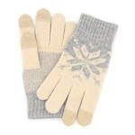 Xiaomi Mi Women`s Touchscreen Wool Winter Gloves Gray / Beige