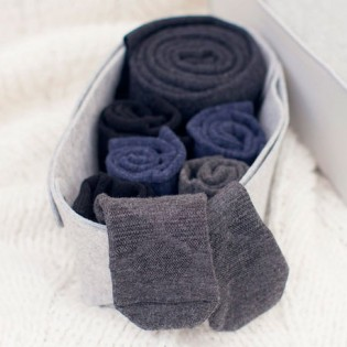 90points Merino Wool Casual Socks Men`s Blue