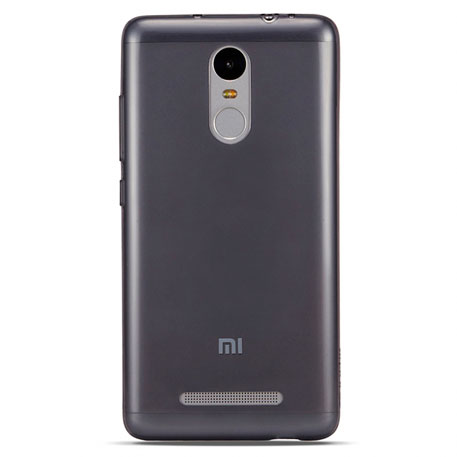 Xiaomi Redmi Note 3 Silicone Protective Case Transparent Black
