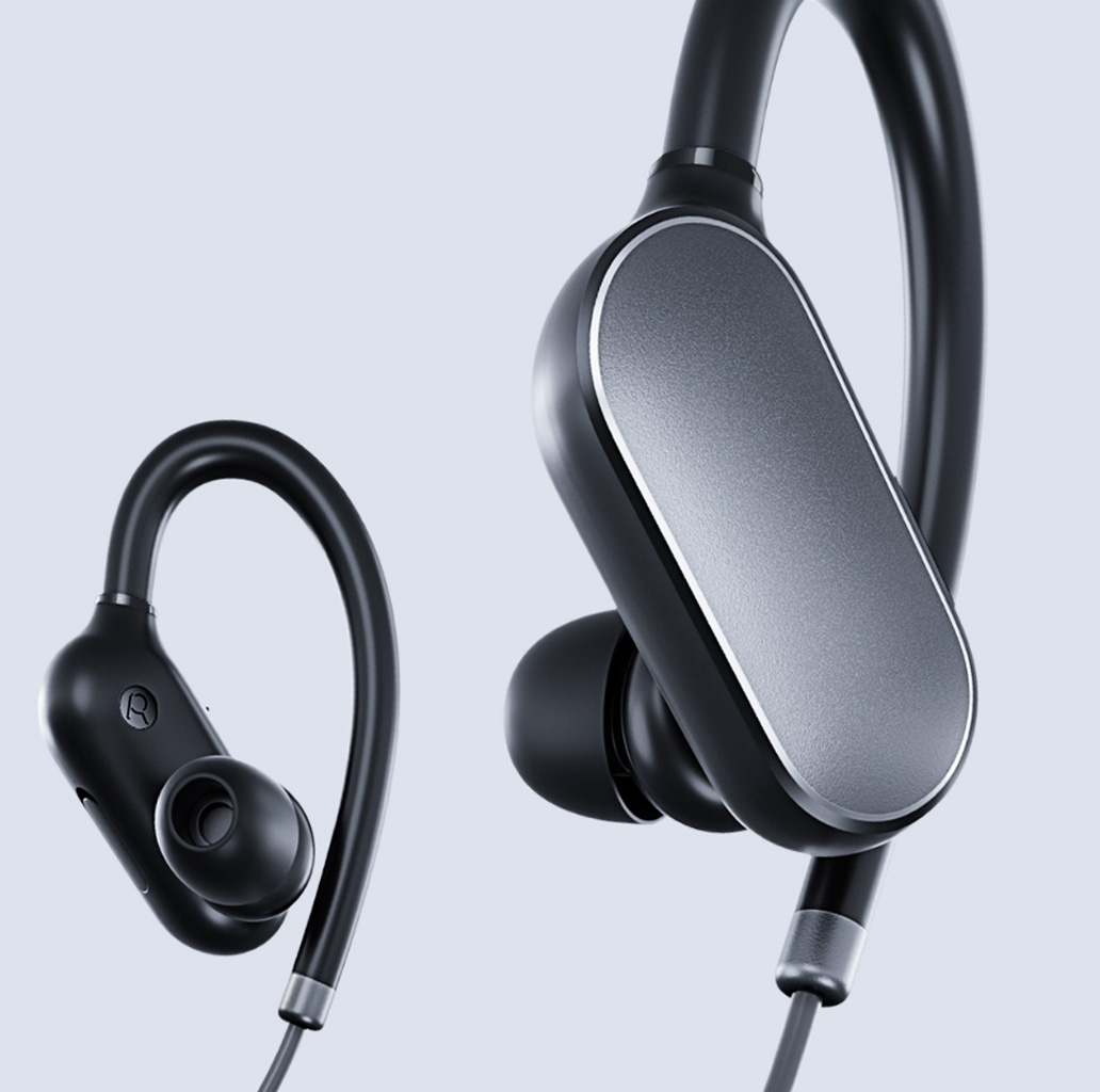 xiaomi mi sport bluetooth ear hook headphones black in. Black Bedroom Furniture Sets. Home Design Ideas